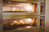 Bread rolls baking in oven