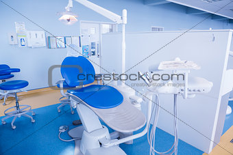 Close up of a dentists chair