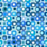 Retro blue square pattern