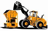 Front loader loading a bin