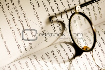 Glasses over a book
