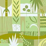 decorative design with plants