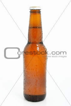 Chilled  beer bottle