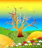 springtime feel landscape