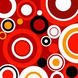 colored retro circle