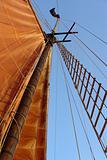 Sailboat mast with sail