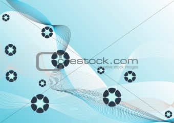 Blue abstract spring background