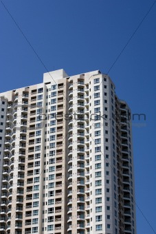 Apartment building on a sunny day