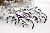 Bikes after the snowstorm.