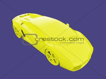 amazing gold car