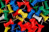 colored push pins