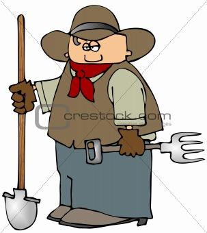 Cowboy With A Shovel