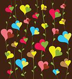Happy Background with Hearts