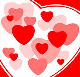 stylized heart background