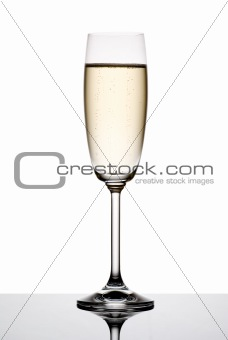Glass of champagne.