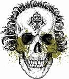 Vector wicked skull illustration