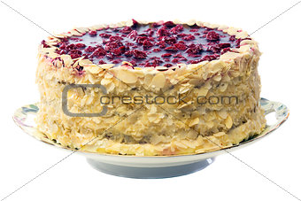 Cake with cherry jelly.