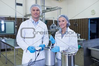 Portrait of smiling scientist team