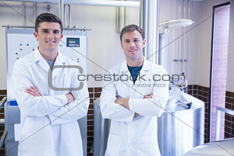 Portrait of scientists with arms crossed