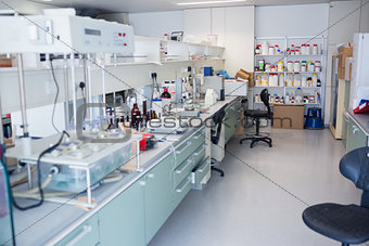 Close up of the laboratory
