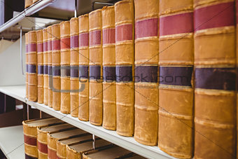 Close up of a lot of old book