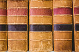 Close up of old books