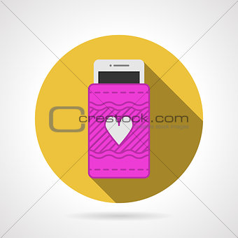 Cell phone case flat vector icon