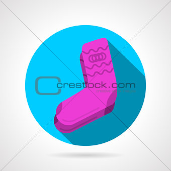 Flat vector icon for pink socks