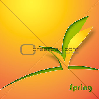 Green sprout abstract background