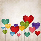 Hearts multicolored
