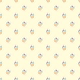 Seamless vector pattern with little cupcakes