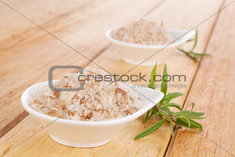 Black sea natural salt flakes.