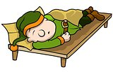 Green Elf Sleeping