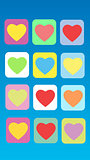 Colorful abstract background heart