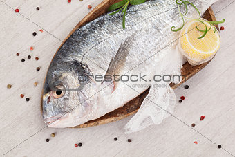 Fish. Seafood background.