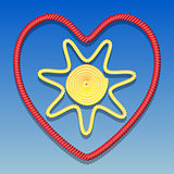 Sun in the heart