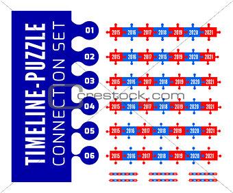 Timeline puzzle connection set
