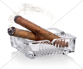 Cigars and ashtray