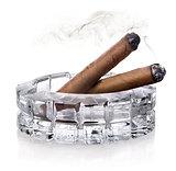 Cigars in ashtray