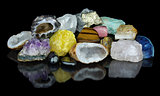 Set of different minerals