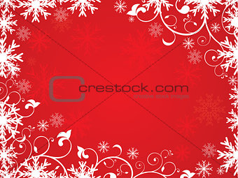 abstract artistic red christmas  background
