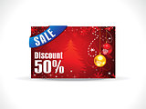 abstract artistic chrtistmas discount card