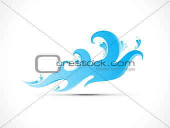 abstract water wave splash icon