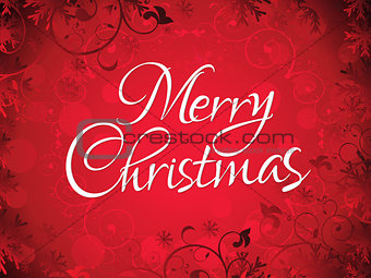 abstract artistic chrtistmas text background