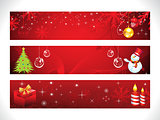abstract christmas web banner template