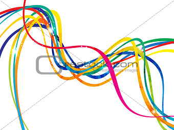 abstract artistic line wave background