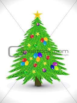 abstract artistic christmas tree background