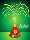 abstract artistic diwali background