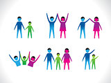 abstract colorful people icon