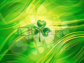 abstract  st patrick clover background